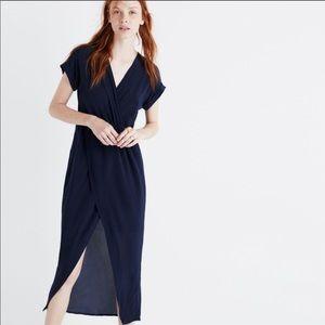 Madewell wrap silk dress
